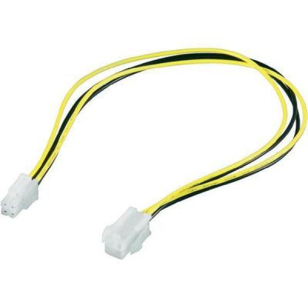 Alaplapi tápkábel, P4 tápcsatlakozó kábel hosszabbító, 0,37