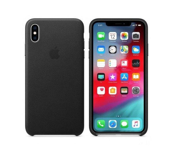 Apple iPhone XS Max gyári bőr hátlap tok, fekete, MRWT2ZM/A