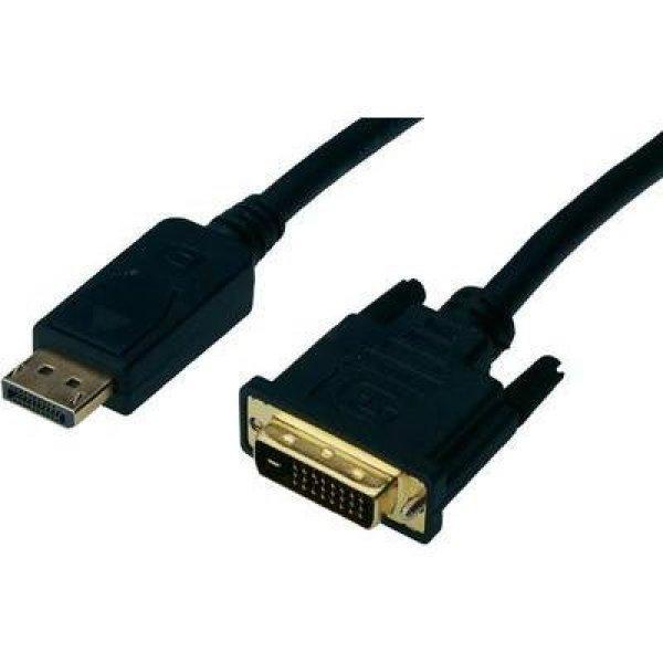DisplayPort / DVI csatlakozókábel [1x DisplayPort dugó - 1x