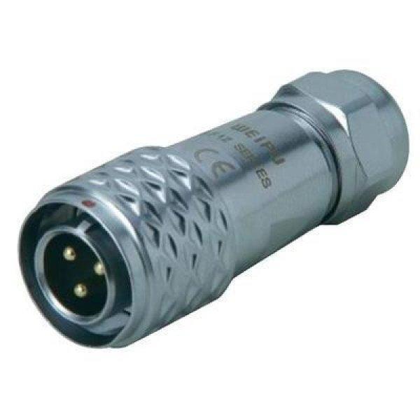 Kerek dugaszolós csatlakozó, Push-Pull IP67 6 pól. dugó 5 A