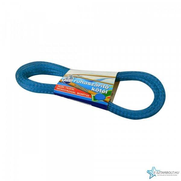 Acélbetétes ruhaszárító kötél, 10 m (kék)