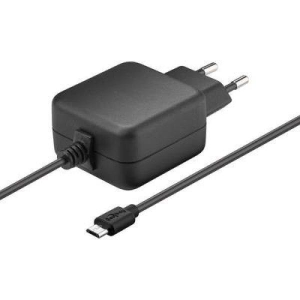 Hálózati Micro USB B töltő, USB 2.0 Micro B dugóval max.3.1