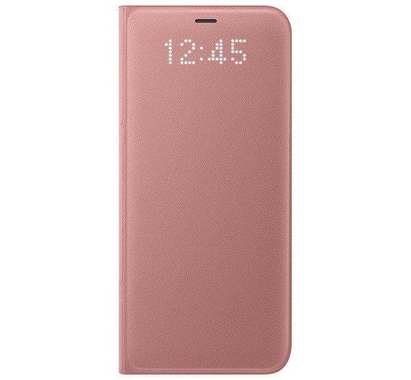 Samsung G950 Galaxy S8 gyári LED View Cover, flip tok, rózsa