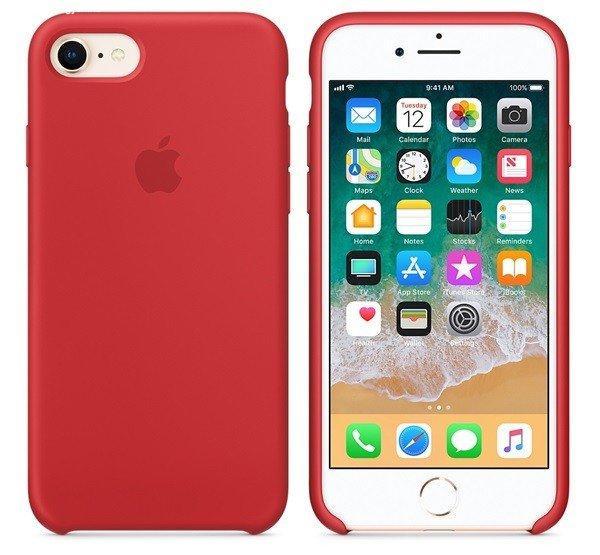 Apple iPhone 8/7 gyári szilikon hátlap tok, piros (PRODUCT)R