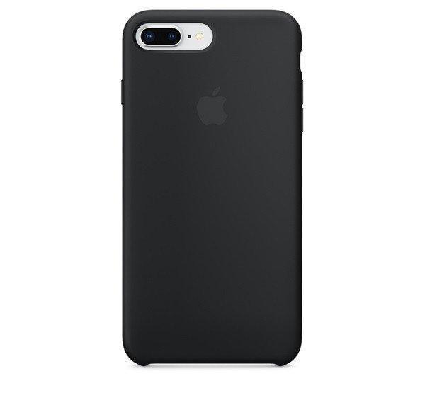 Apple iPhone 8 Plus/7 Plus gyári szilikon hátlap tok, fekete