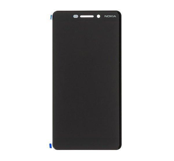 Nokia 6.1 kompatibilis LCD modul, OEM jellegű, fekete