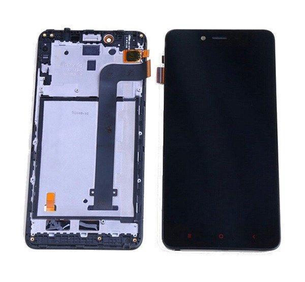 Xiaomi Redmi Note 2 kompatibilis LCD modul kerettel, OEM jel