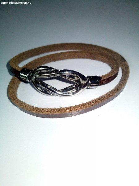 Leather Magnetic Brown bőr karkötő * Bőr bankkártya tartóval