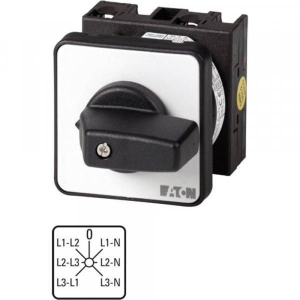 Feszültségmérő átkapcsoló beépíthető, 20 A 6,5 kW Eaton T0-3