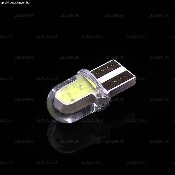 T10 MINI szilikon burkolat COB LED 1,5W 150 Lumen hideg fehé