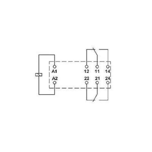 Miniatűr teljesítmény relé 230 V/AC 1 váltó, 16 A 250 V DC/A