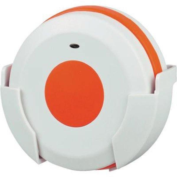 Vészjeladó vezeték nélküli csengőhöz, 100 m, 433 MHz, fehér/