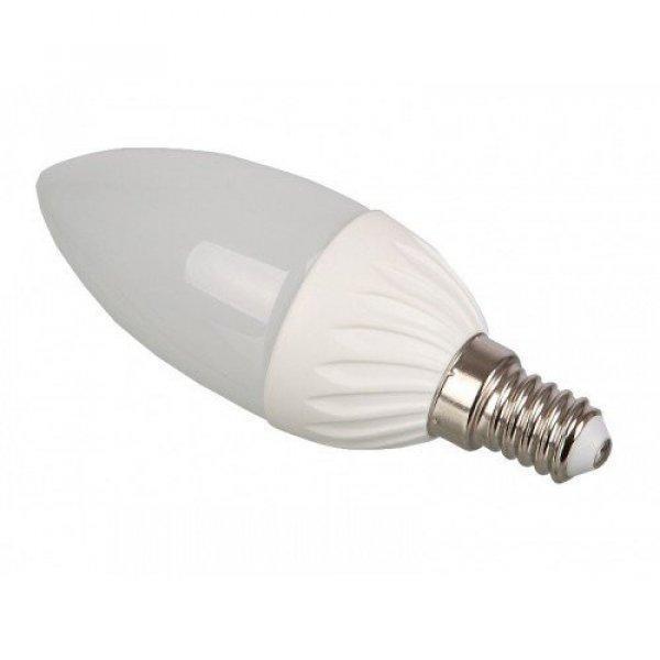 LED lámpa , égő , gyertya , E14 foglalat , 4 Watt , 240° , t