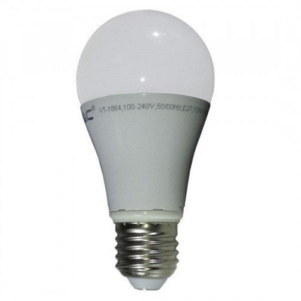 LED lámpa , égő , körte , E27 foglalat , 10 Watt , természet