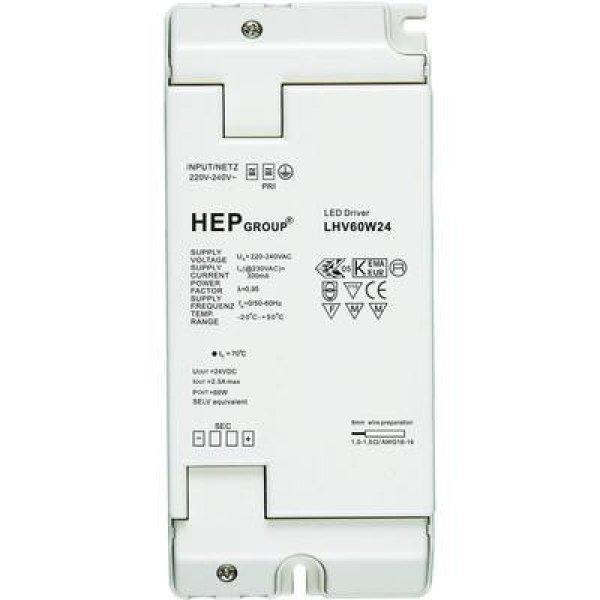 LED meghajtó, 60 W, 24 VLHV60W24 Fehér